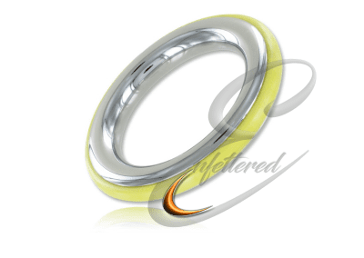 Silicone and Stainless Cock Ring Yellow