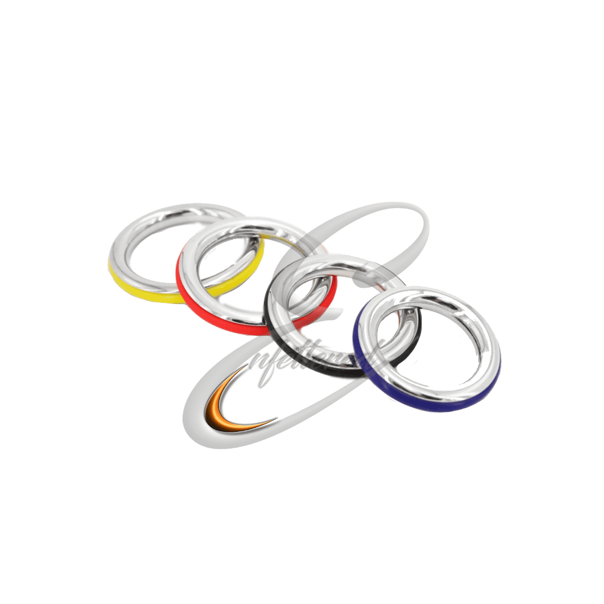 Enfettered Stainless Steel & Silicone Cock Ring