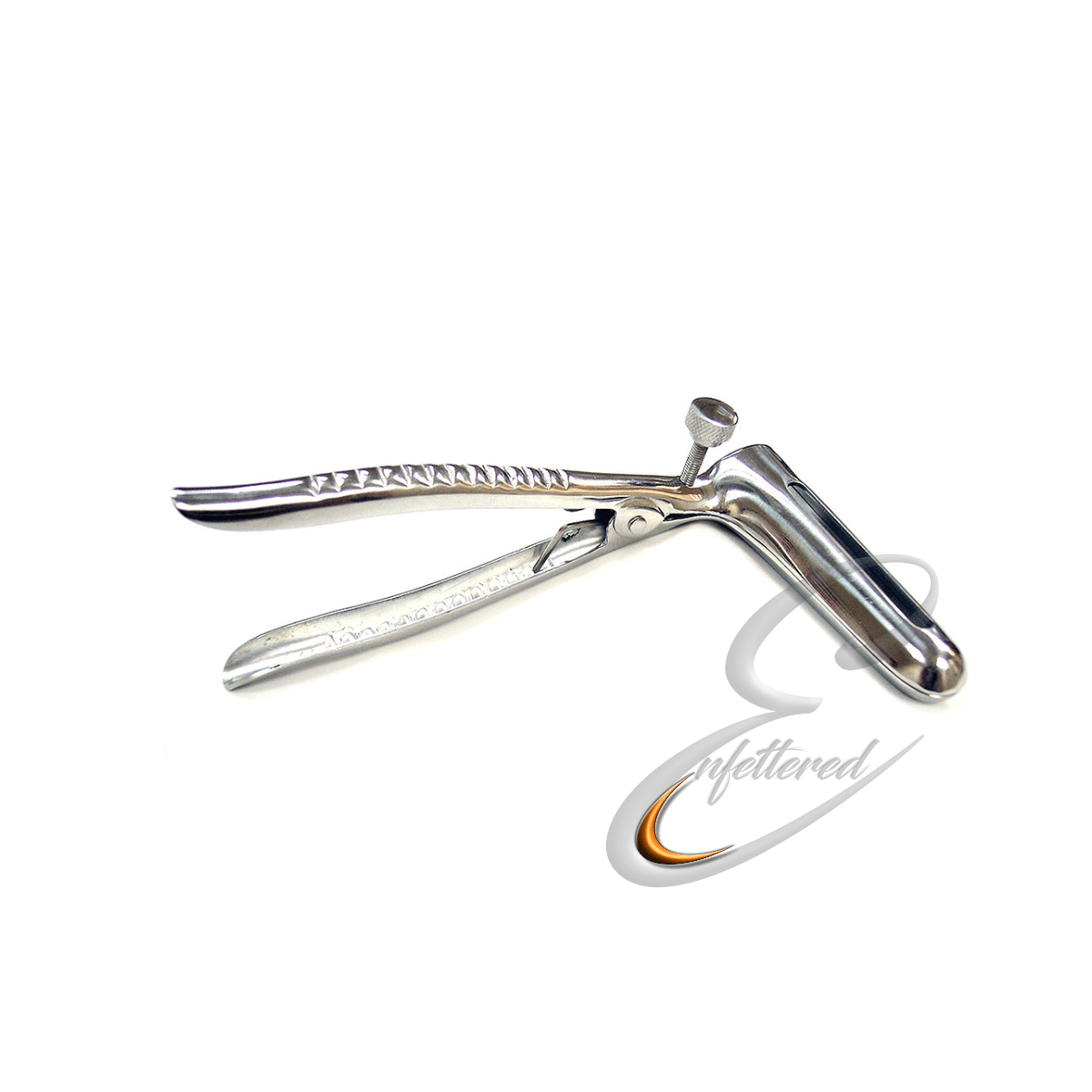 Enfettered Stainless Steel Locking Anal Speculum