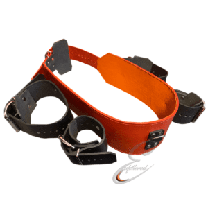 Enfettered Leather Wrist To Chest Bondage Belt