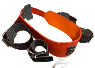 Enfettered Leather arm to chest strap