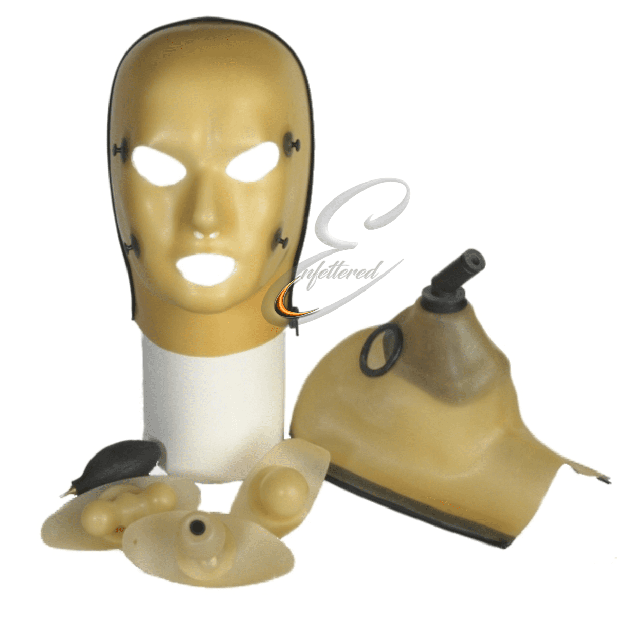 Enfettered Heavy Rubber 2 piece Multi Function ANAESTHESIA Hood