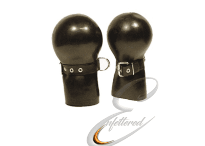 Enfettered Rubber mitts