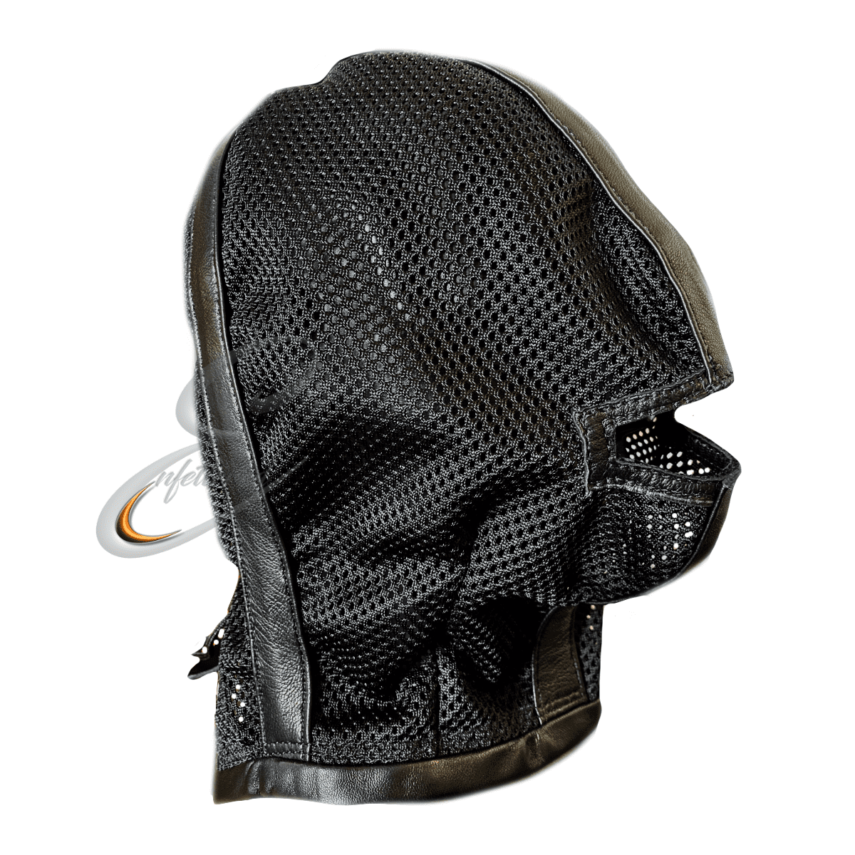 Enfettered Mesh Hood with Mouth Opening