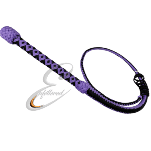 Enfettered Nylon Bullwhip 12 plait 3FT Purple/Black