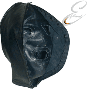 Enfettered Leather Two Face Hood