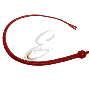Enfettered Kangaroo Hide Red Leather Sjambok