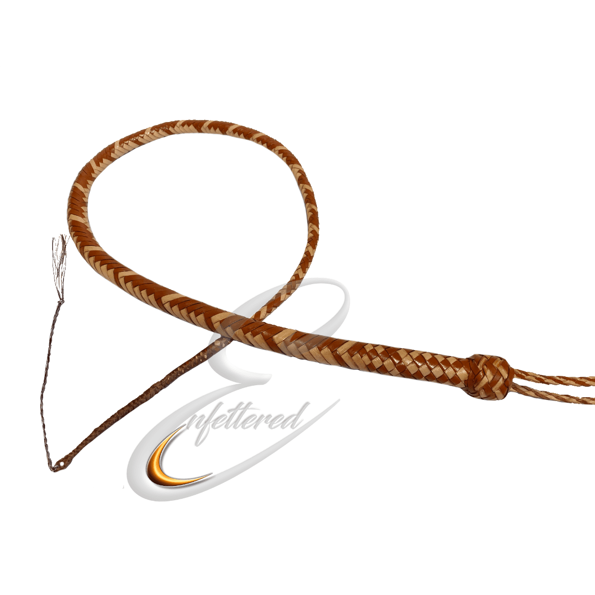 Enfettered Kangaroo Hide Leather Signal Whip 3ft 12 Plait