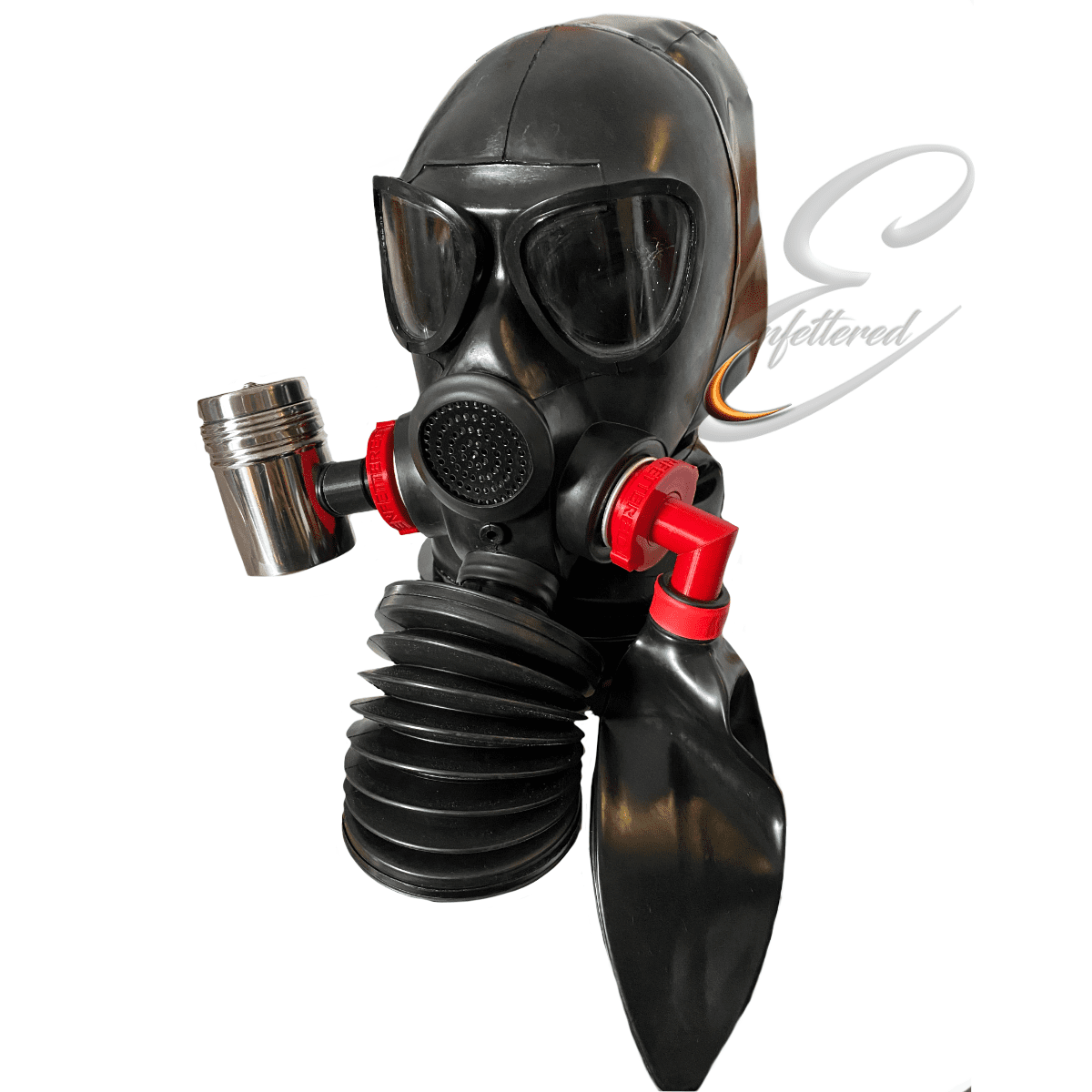 Enfettered Gas Mask Hood with Mini Aroma System & Bellows