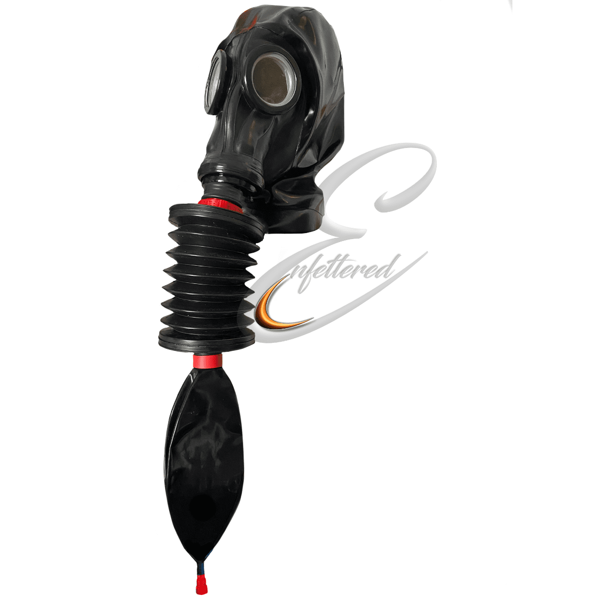 Enfettered Russian Gas Mask Hood with Rebreather Bellows