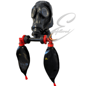 Enfettered Russian Gas Mask Hood with HandleBar Rebreathers