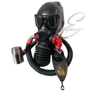 Enfettered Gas Mask Hood with Aroma Bellow Rebreather System