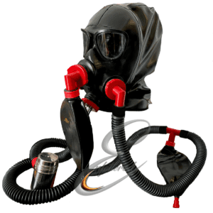 Enfettered Gas Mask Hood with Split Ring Tube Aroma System