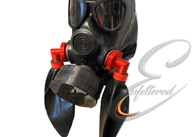 Enfettered doube rebreather with sniff filter hood
